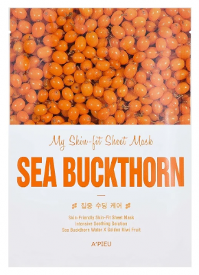 Тканевая маска c экстрактом облепихи A'PIEU My Skin-Fit Sheet Mask Sea Buckthorn: фото