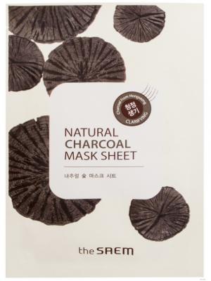 Маска тканевая с древесным углем THE SAEM Natural Charcoal Mask Sheet 21мл: фото