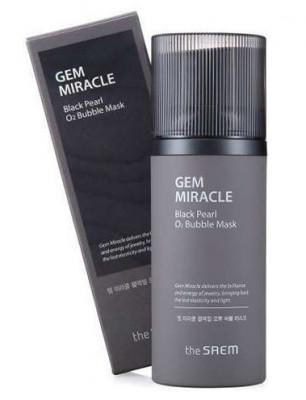 Маска кислородная с экстрактом жемчуга THE SAEM Gem Miracle Black Pearl O2 Bubble Mask 105г: фото