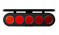 Палетка блесков и помад, 5 цветов Make-Up Atelier Paris №09 красная гамма, 10г: фото