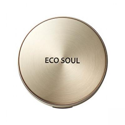 Пудра компактная золотая сменный блок THE SAEM Eco Soul Luxury Gold Pact 21 Light BeigeRefill: фото