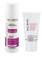 Набор для волос KORA Complex Keratin: Шампунь БИОБАЛАНС 250 мл + Экспресс-маска для объема и легкости жирных волос150мл В ПОДАРОК: фото