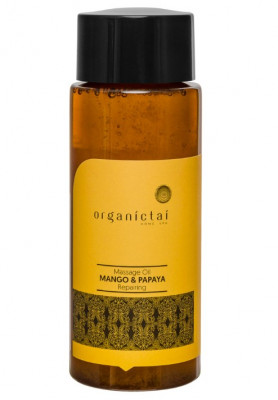 Масло массажное для тела с манго и папайей ORGANIC TAI Massage Oil Mango & Papaya Repairing 100 мл: фото