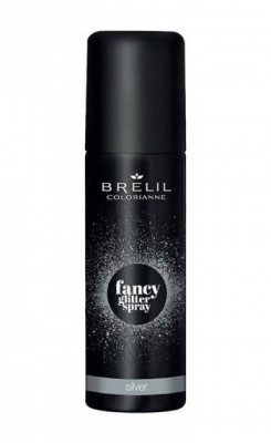 Фантазийный спрей-блеск Brelil Colorianne Fancy Glitter Spray серебряный 75мл: фото