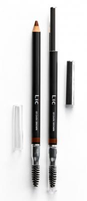 Карандаш пудровый для бровей Lic Eyebrow pencil 03 Dark Brown: фото