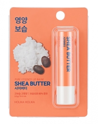 Бальзам для губ с маслом ши Holika Holika Pure Essence Shea Butter Lip Balm 3,3 г: фото