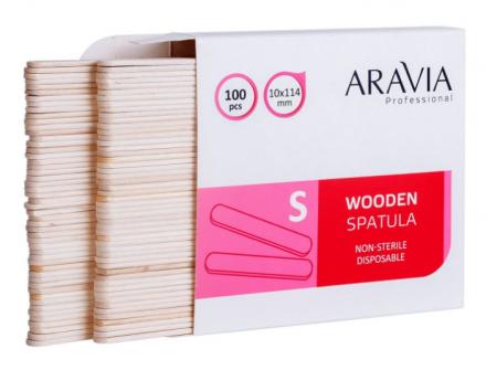 Шпатели деревянные одноразовые размер S ARAVIA Professional 100шт: фото